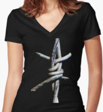 Barbed Wire Women's Fitted V-Neck T-Shirt