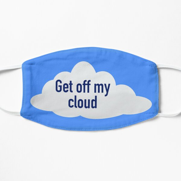 Rolling Stones: sal de mi nube Mascarilla plana