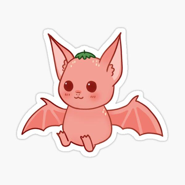 strawberry bat Sticker