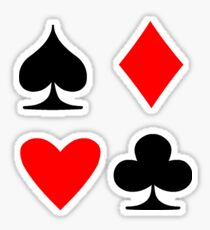 Poker Suite Sticker