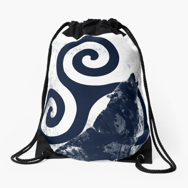Triskele and Wolf Drawstring Bag