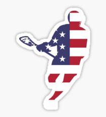 Lacrosse IRockMericaHorz Sticker