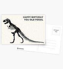 Alles Gute zum Geburtstag Du altes Fossil Postkarten