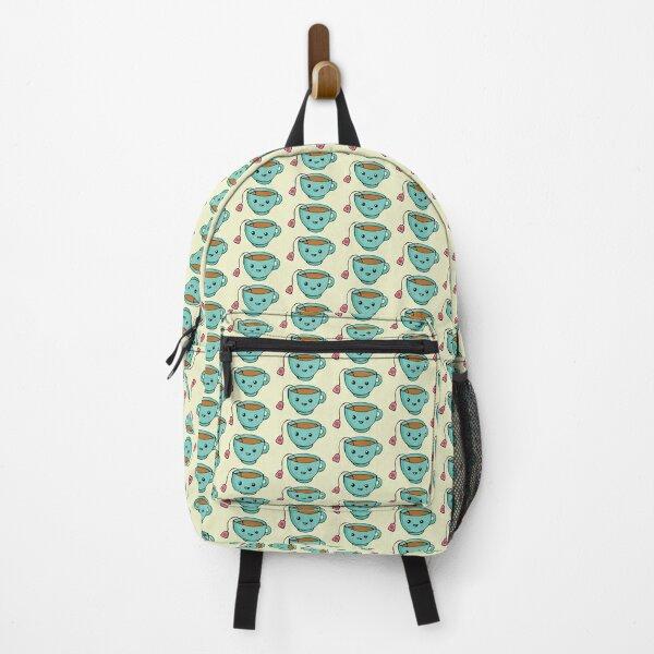 Cute Kawaii Tea Cup for Tea Lover Backpack