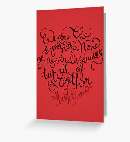 We are... Greeting Card