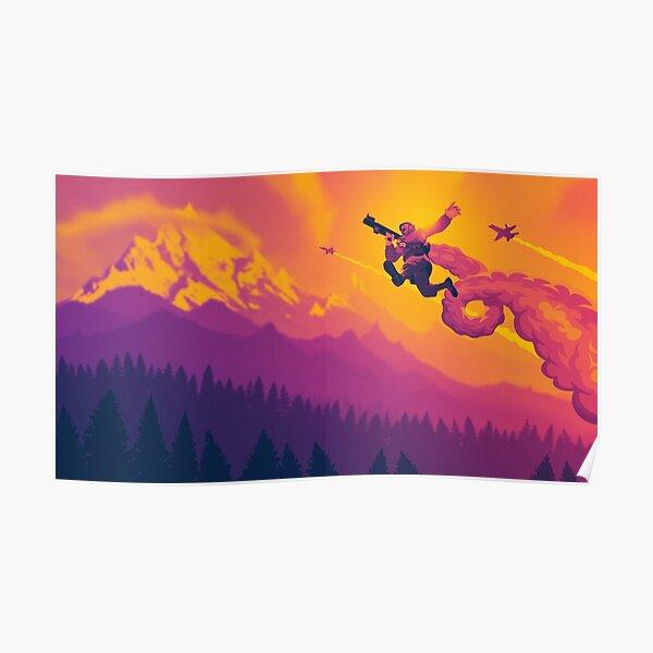 Rocket Jump Waltz (Sunset) Poster