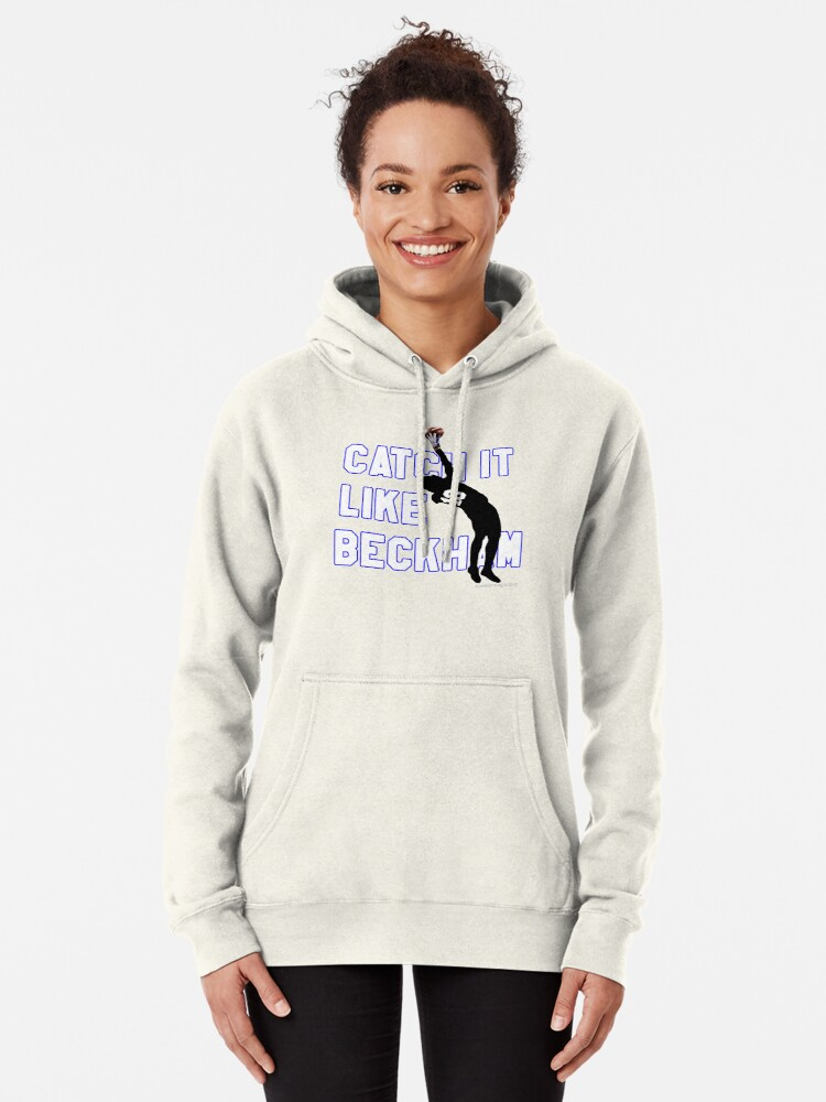 Alternate view of Catch it Like Beckham 13 Pullover Hoodie