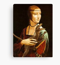 Lady with a Velociraptor Canvas Print