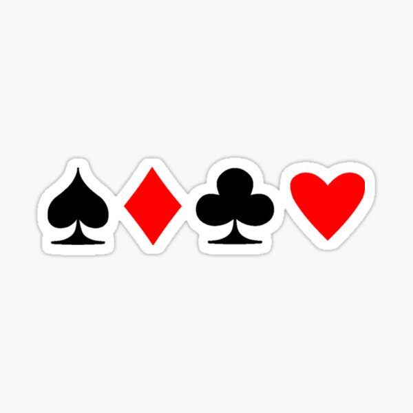 Poker Suite Sticker