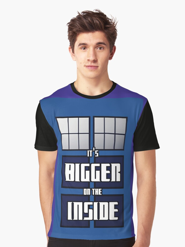 It's Bigger on the Inside Graphic T-Shirt Front