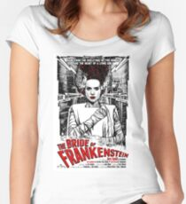 Bride of Frankenstein. Elsa Lanchester. Movie. Horror.  Women's Fitted Scoop T-Shirt