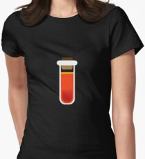 Color tubes Red Women's Fitted T-Shirt