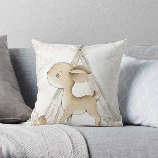 Boho Woodland Animal Deer Throw Pillow