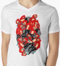 City hipster monkey Men's V-Neck T-Shirt
