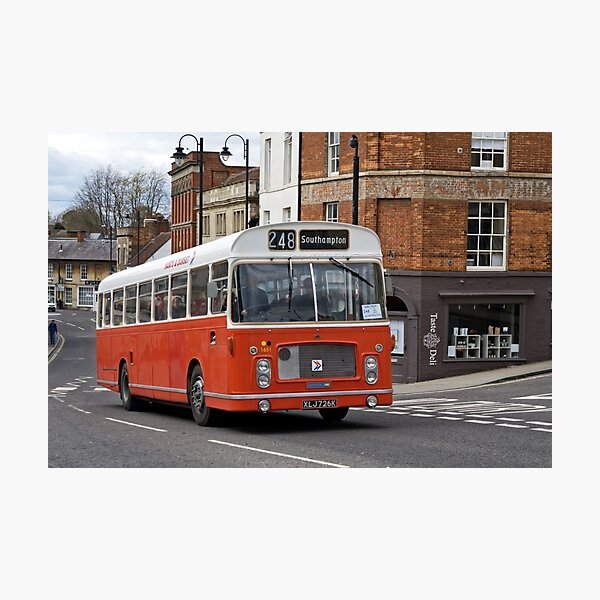 Hants & Dorset Bristol RELL6G Bus Photographic Print