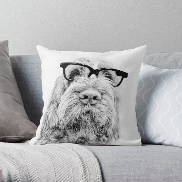 Intelligent friend Spinone Throw Pillow