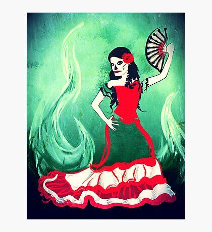 spanish sugar skull dancer Photographic Print