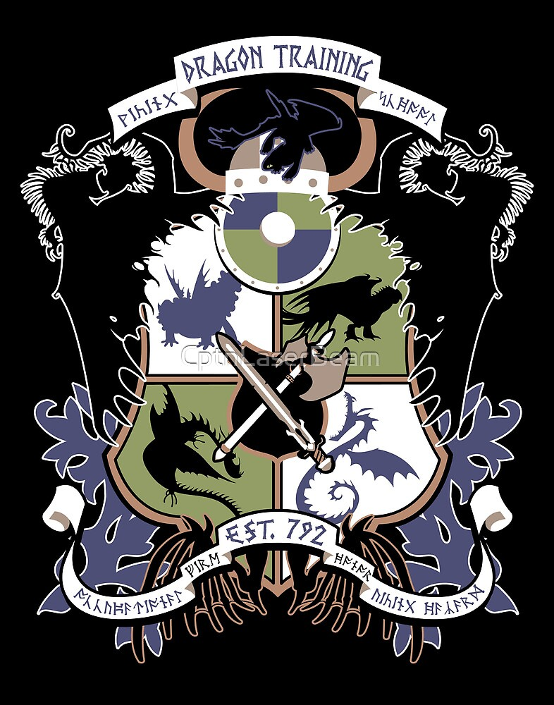 Dragon Training Crest - How to Train Your Dragon by CptnLaserBeam