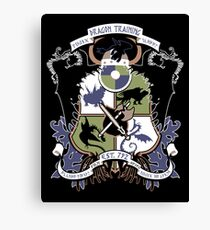 Dragon Training Crest - How to Train Your Dragon Canvas Print