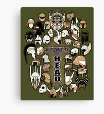 Helmets of fandom - respect the head! Canvas Print