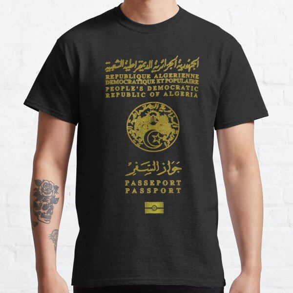 Passeport Algérien v2 T-shirt classique