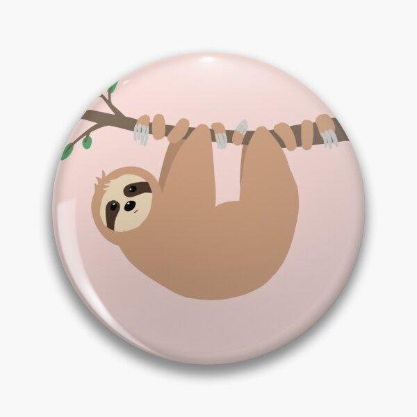 Cute Sloth  ZZZ Queen Enamel Badge