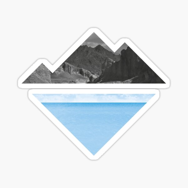 Nature Lovers - Mountain and Sea Sticker