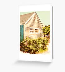 Marthas Vineyard Fishing Shed Greeting Card
