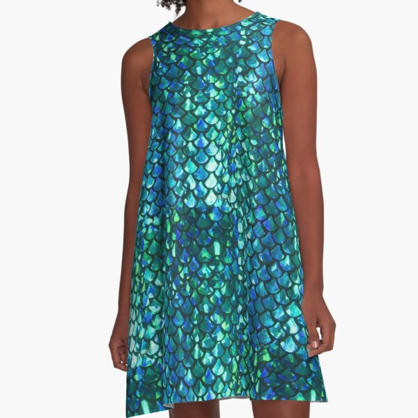 MERMAID fish scales & shimmery glimmer! A-Line Dress
