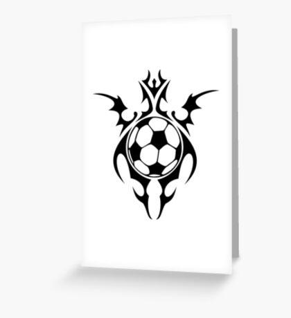 futbol : tribalz Greeting Card
