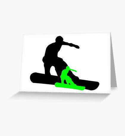snowboard : shadowstance Greeting Card