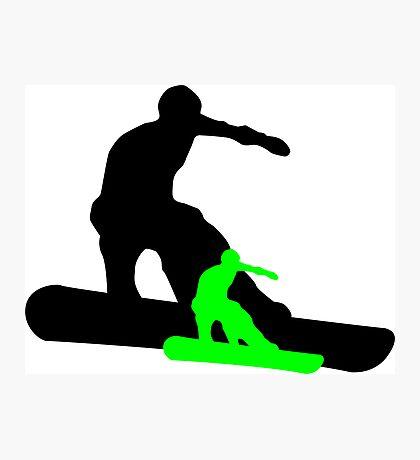 snowboard : shadowstance Photographic Print