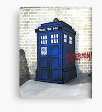 Dalek Gettin' Up Canvas Print