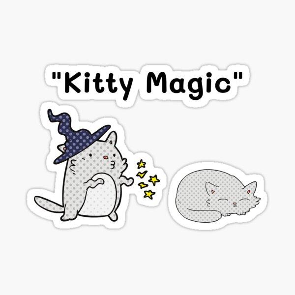 Gatito mágico Pegatina