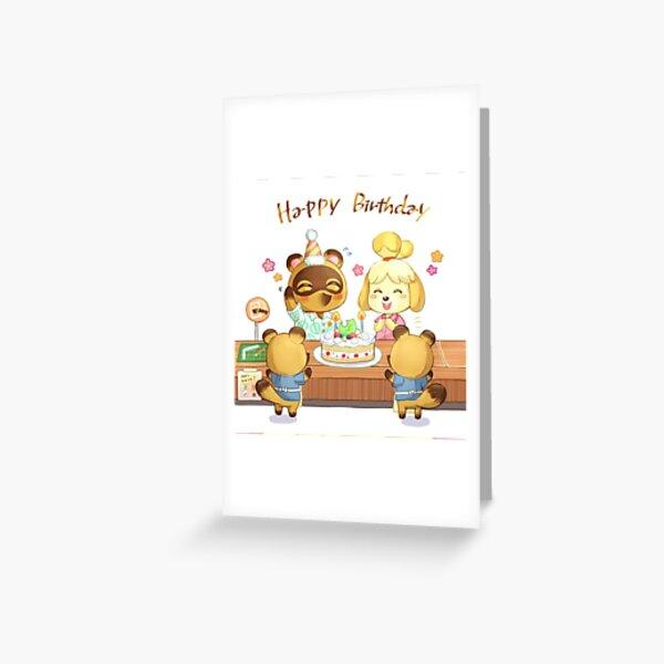Animal Crossing Birthday Inspired Artwork Greeting Card