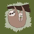 Sloth Mama and Baby by Rebecca Adams