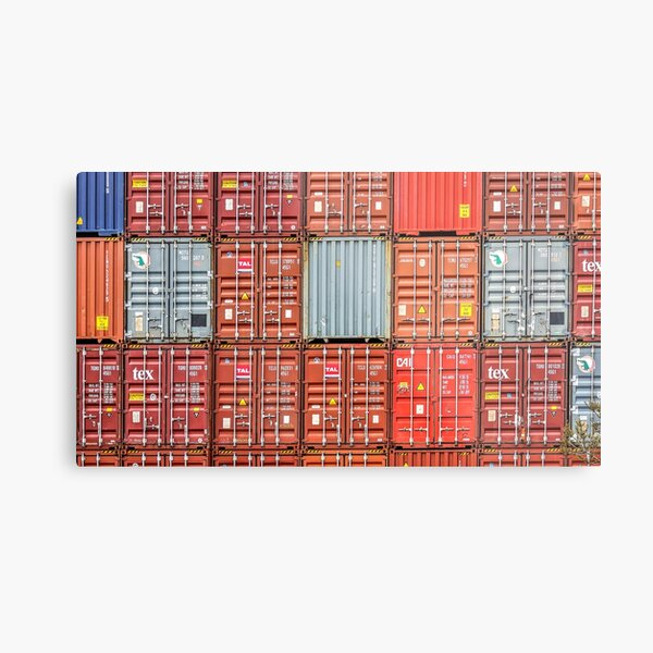 The Stacked Shipping Containers Metal Print