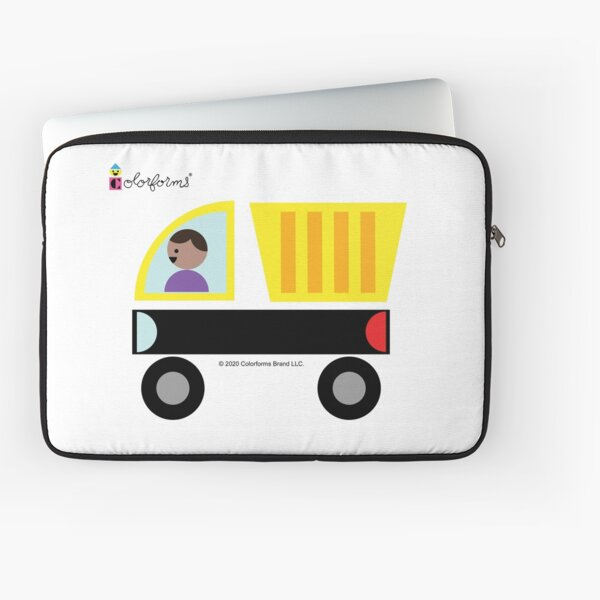 Colorforms Yellow Truck Laptop Sleeve