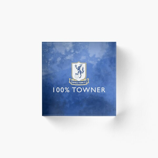 100% Towner - Enfield Town Football Club  Acrylic Block
