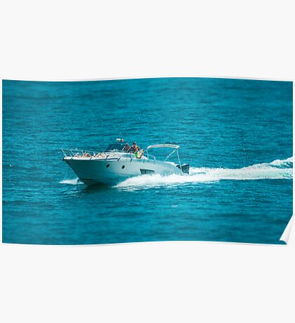 boat on the lago maggiore (001) Poster
