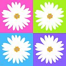 multi daisy pastel by hennydesigns