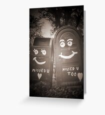 i miss you mailboxes Greeting Card