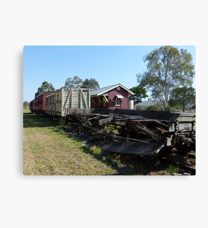 Linville doesn't get too many trains these days! Canvas Print