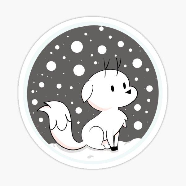 Snow Fox // Twig  Sticker