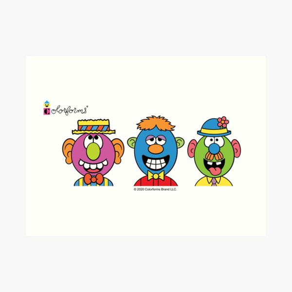 Colorforms Silly Faces Art Print