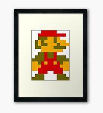 8-Bit Mario Framed Print