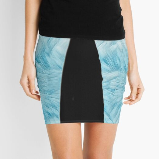 PRIDE FEATHER PRINT  Mini Skirt