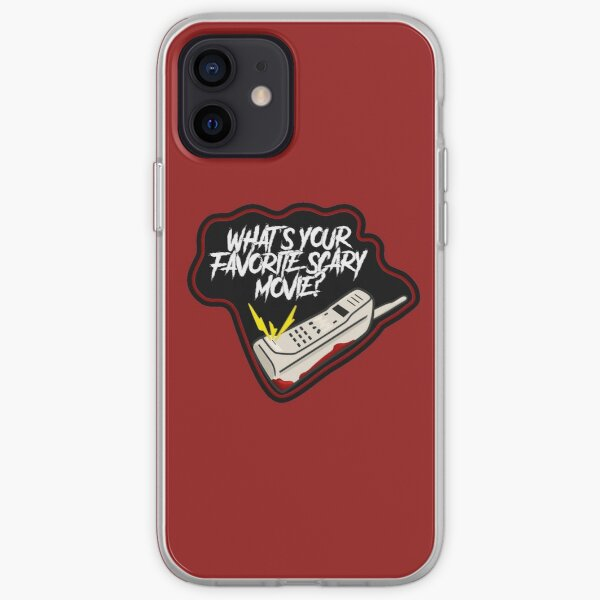 """Scream Quote """"What's Your Favorite Scary Movie?"""" iPhone Soft Case"""