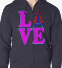 •°♥§Love Paris-Eiffel Tower Fabulous Clothing & Stickers§♥°• Zipped Hoodie