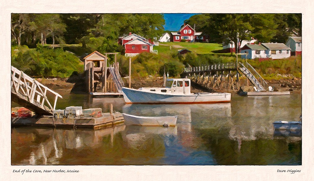 End of the Cove, New Harbor, Maine by Dave  Higgins
